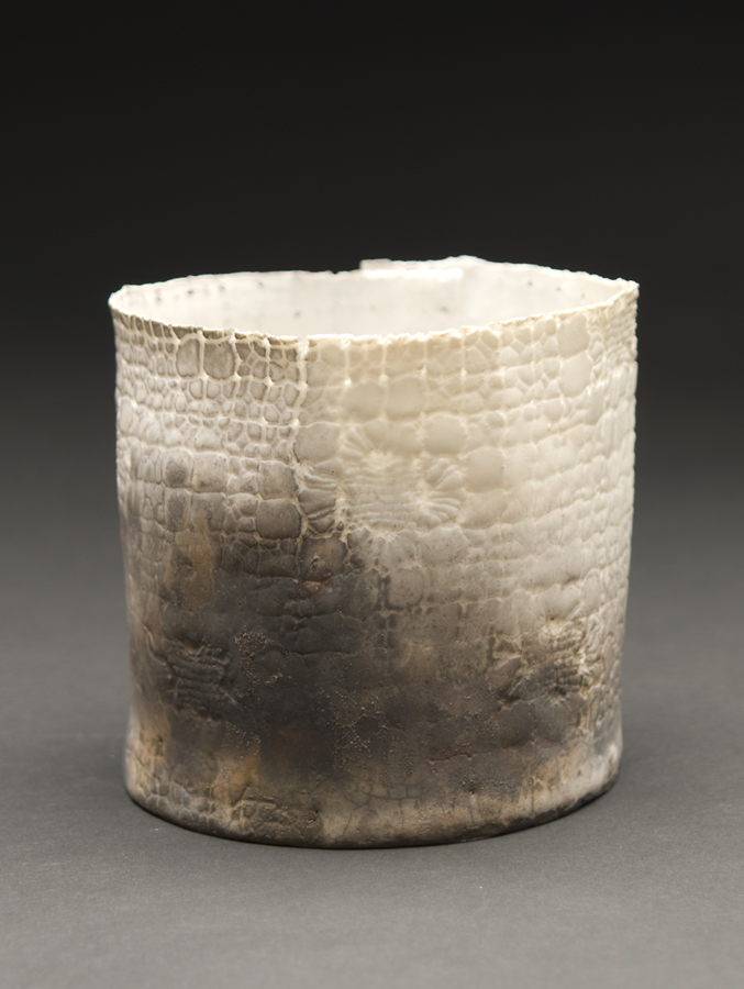 Deirdre Hawthorne    January Ash  , 2011 Glazed and saggar fired porcelain 3.5 x 3.75 inches 8.9 x 9.5 cm DH 24