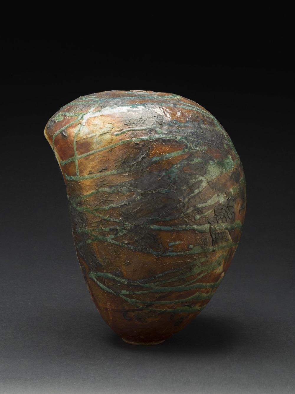 Melanie Ferguson    Below Bitter Springs Butte  , 2014 Handbuilt stoneware, soda fired 12 x 9.5 x 8.5 inches 30.5 x 24.1 x 21.6 cm MFe 17