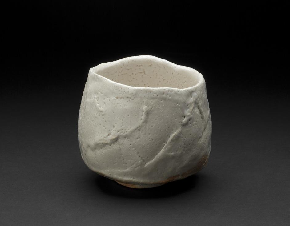 Touri Maruyama    Shino Chawan   , 2012 Ceramics, Moxa clay 4 x 4.5 inches 10.2 x 11.4 cm TMar 7