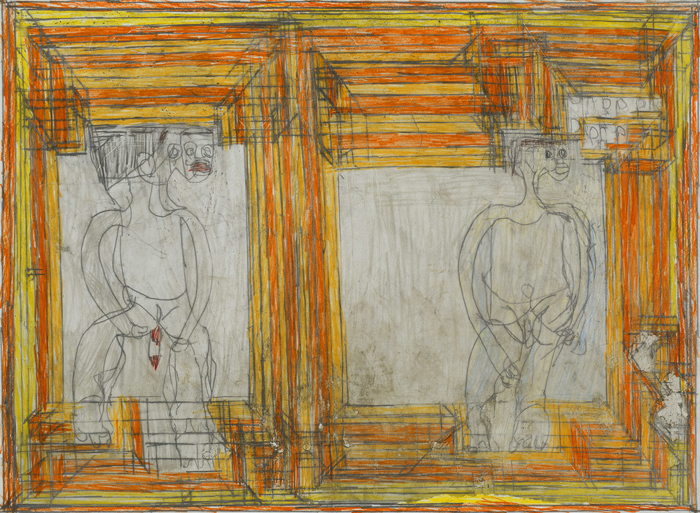 Josef Hofer    Untitled  , 2007 Pencil, colored pencil on paper 17.32 x 23.62 inches  /  44 x 60 cm  /  JHo 21