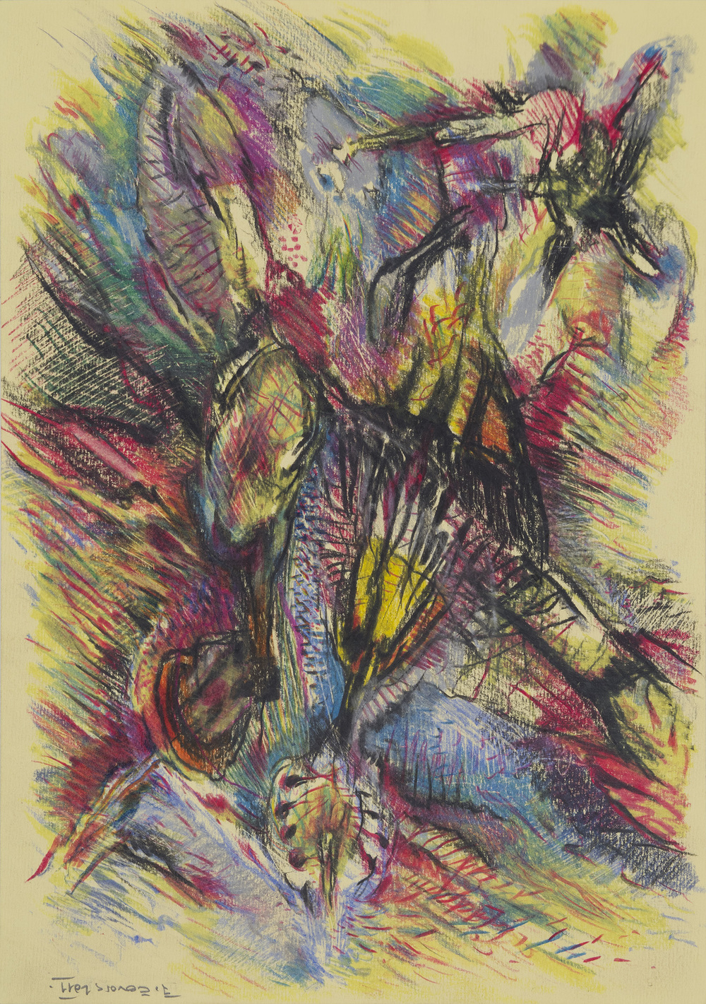 Jaroslav Čevora    Untitled  , 2011 Crayon on paper 13.39 x 9.45 inches 34 x 24 cm JCev 10