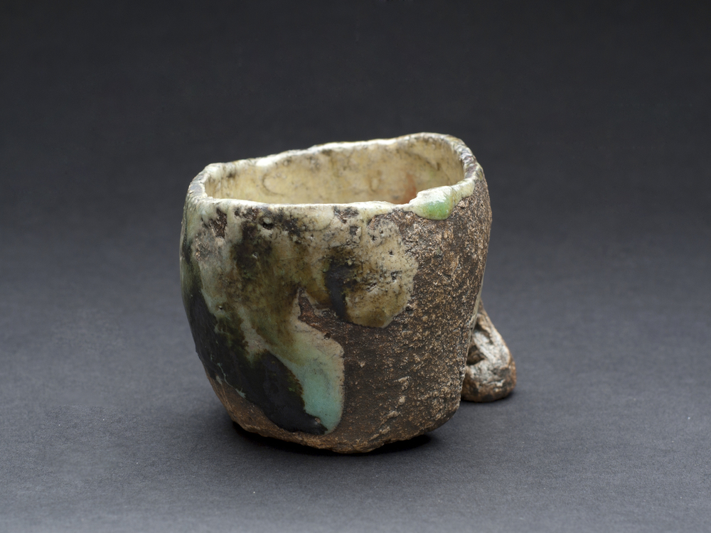 Paul Fryman    Teashell (small)  , 2012 Woodfired, stoneware 2.5 x 3 x 4 inches 6.4 x 7.6 x 10.2 cm PDr 6