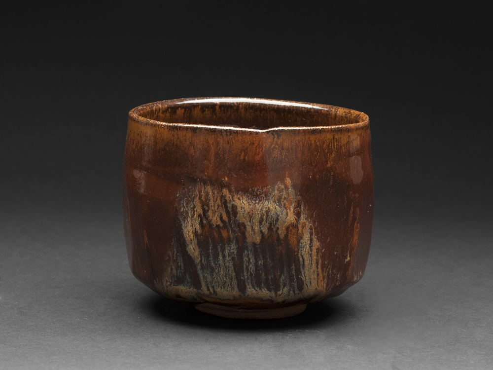 Richard Milgrim    Konko Gama Ame yu Chawan  , Red clay Ceramic 4.41 x 3.58 inches 11.2 x 9.1 cm RMi 11