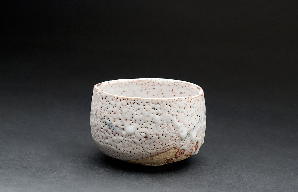 Takao Okazaki    E-Shino Tea Bowl   Fired Ceramic Mino Style 4.75 x 4.5 x 3.5 inches 12.1 x 11.4 x 8.9 cm TAO 7