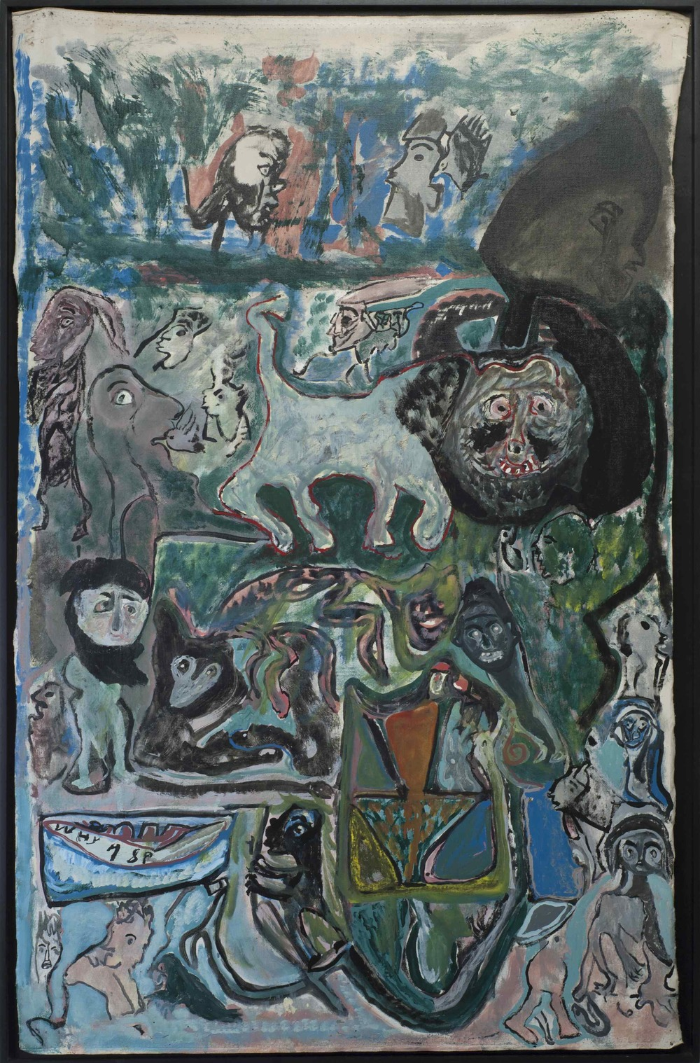 Leonard Daley    Why  , 1993 Mixed media/canvas 52.5 x 28.5 inches 133.4 x 72.4 cm LE 9