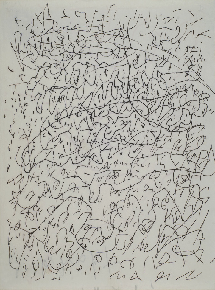 J.B. Murray, Untitled, c. 1978-1988, Marker, ink on paper, 14 x 10.5 inches, JBM 398