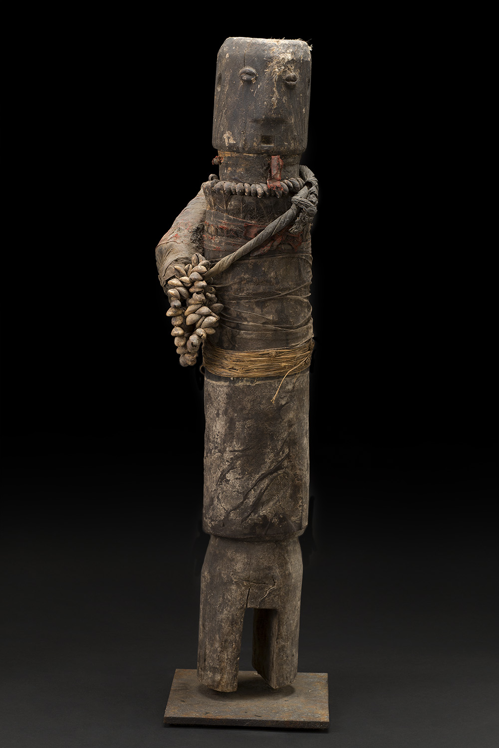 Africa    Bocio - Ewe/Adan People - Togo  , c. 1970-1980 Wood, fabric, feathers, pigment, shells, grass, and other natural materials 35.5 x 8.5 x 6.5 inches 90.2 x 21.6 x 16.5 cm Af 293