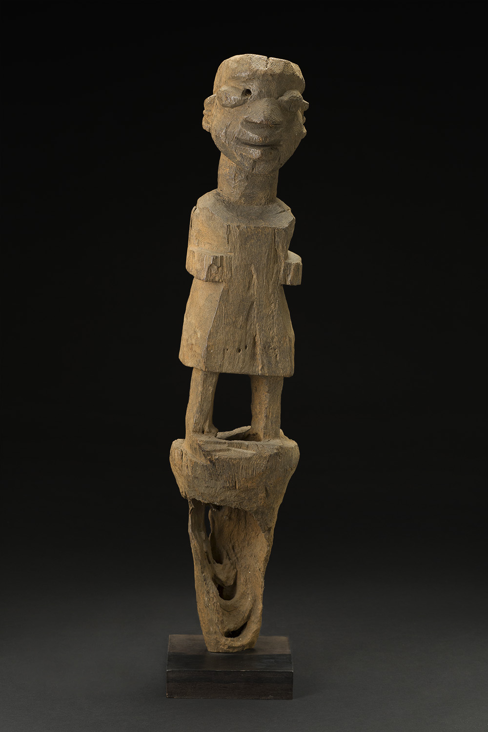 Africa    Bocio - Nago People - Benin  , Early 20th C. Wood 28 x 5 x 6 inches 71.1 x 12.7 x 15.2 cm Af 297