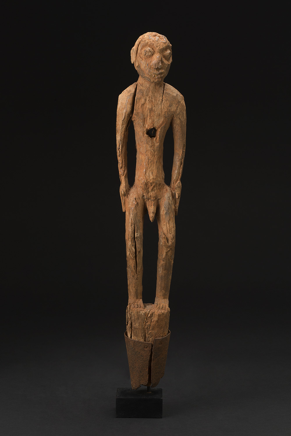 Africa    Bocio - Fon People - Benin  , Mid. 20th C. Wood 23 x 4.5 x 2.5 inches 58.4 x 11.4 x 6.4 cm Af 298