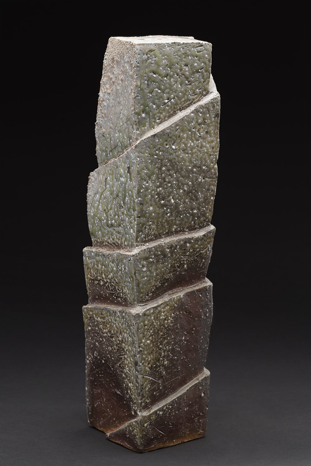 Tim Rowan    Untitled  , 2015 Ceramic 18 x 4.25 x 4.25 inches 45.7 x 10.8 x 10.8 cm TR 158
