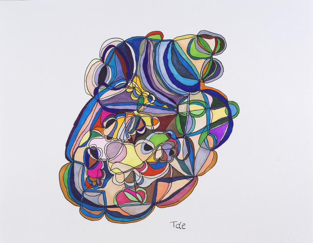 Tae Takubo    Untitled  , 2012 Marker on paper 12.4 x 16.02 inches 31.5 x 40.7 cm TTk 8