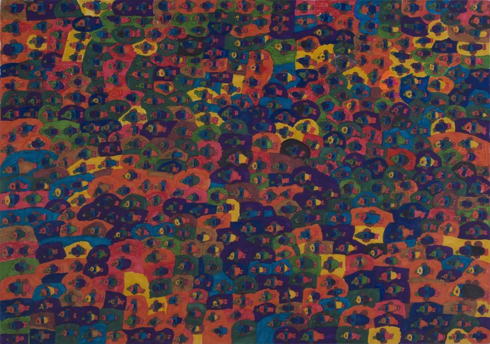 Yukio Miyashita    Fish  , 2011 Marker on paper 14.96 x 21.26 inches 38 x 54 cm YMi 39