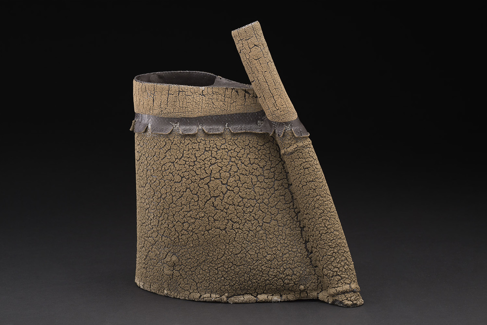 Rafa Perez    Untitled  , 2015 Steel mesh, porcelain, and clay fired at 1160 degrees 11.5 x 10 x 4 inches 29.2 x 25.4 x 10.2 cm RPe 44