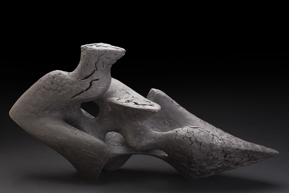 Rebecca Buck    Wyvern V  , 2015 Ceramic 10.5 x 20 x 10 inches 26.7 x 50.8 x 25.4 cm RBk 1