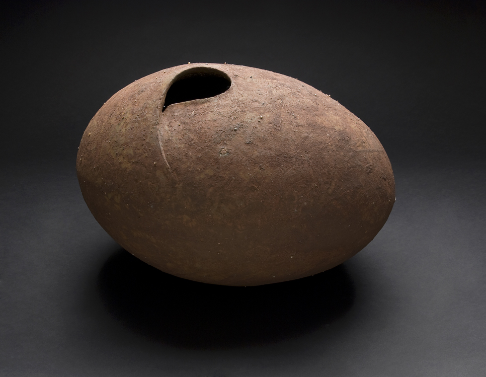 Tadashi Ito    Quintessence No.14  , 2011 Clay with kaolin 11 x 15 x 13.5 inches 27.9 x 38.1 x 34.3 cm TaI 1