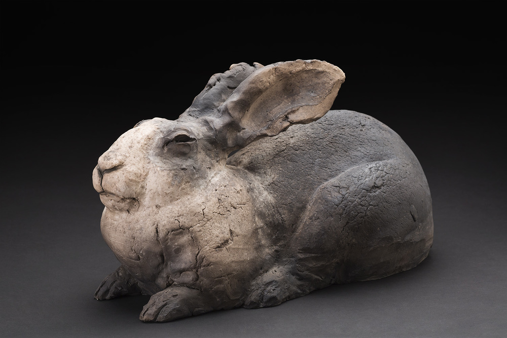 Susan Halls    Dutchess  , 2015 Raku-fired clay 10 x 16 x 8.5 inches 25.4 x 40.6 x 21.6 cm SuH 10
