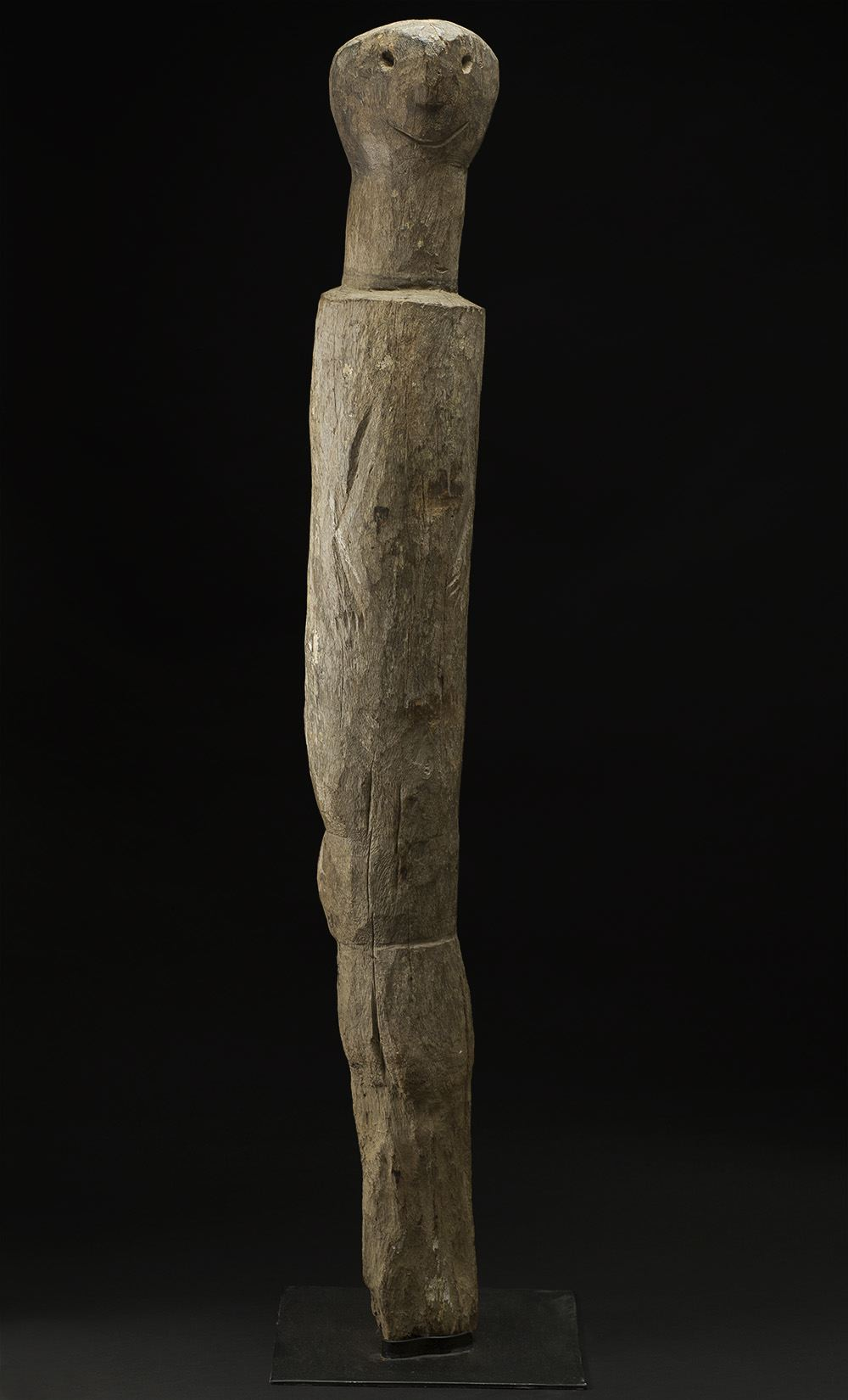Africa    Moba Ancestral Sculpture - Moba People - Northern Togo  , Early 20th C. Wood 55 x 7 x 7 inches 139.7 x 17.8 x 17.8 cm Af 334