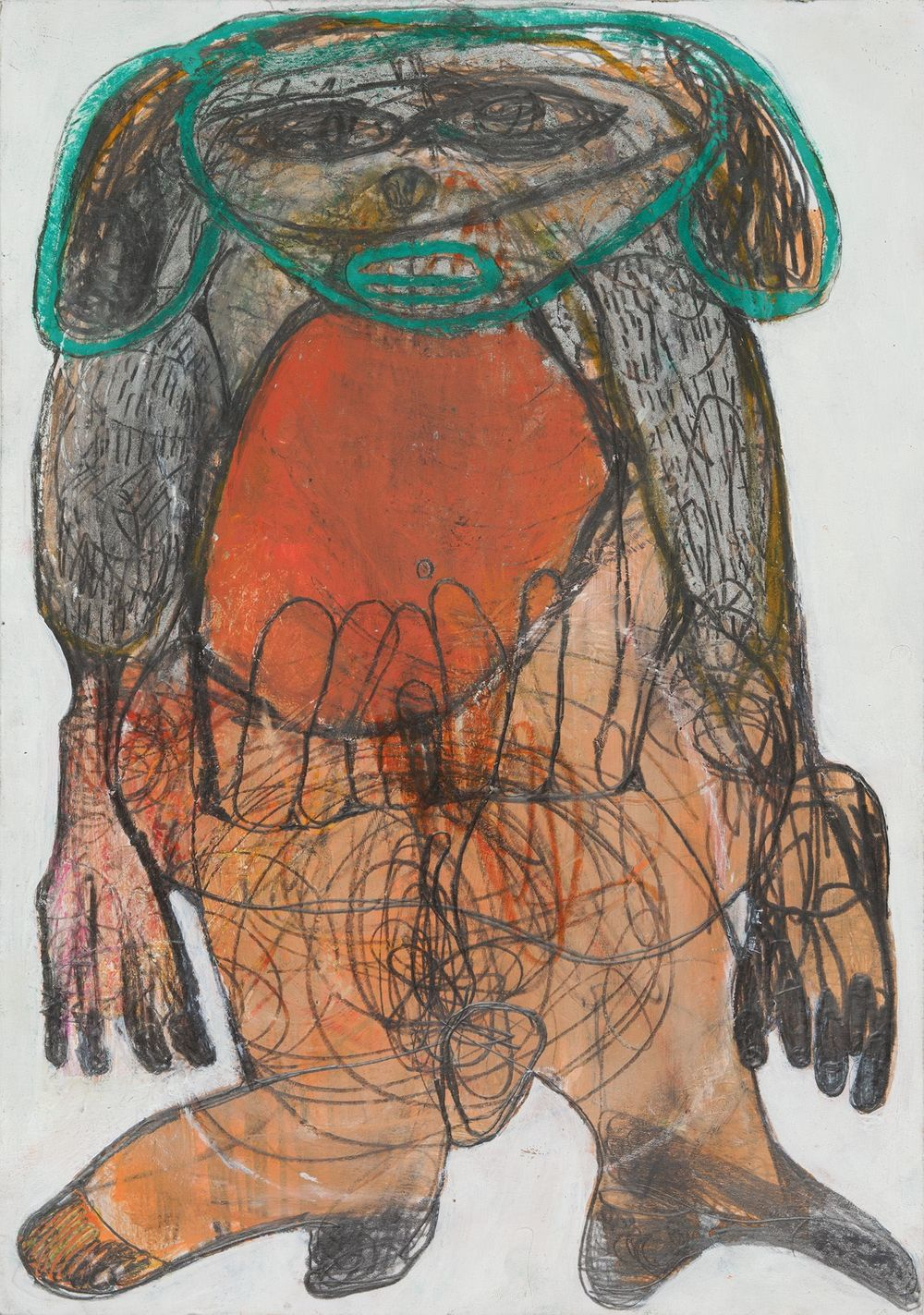 Caroline Demangel    Untitled  , 2014 Mixed media on paper 11.75 x 8.25 inches 29.8 x 21 cm CDm 3
