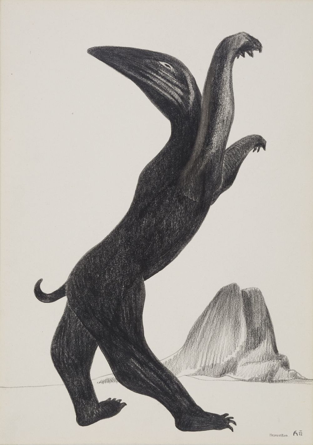 Karel Havlíček    Mezozoikum  , 1972 Pencil on paper 16.54 x 11.81 inches 42 x 30 cm KHav 1