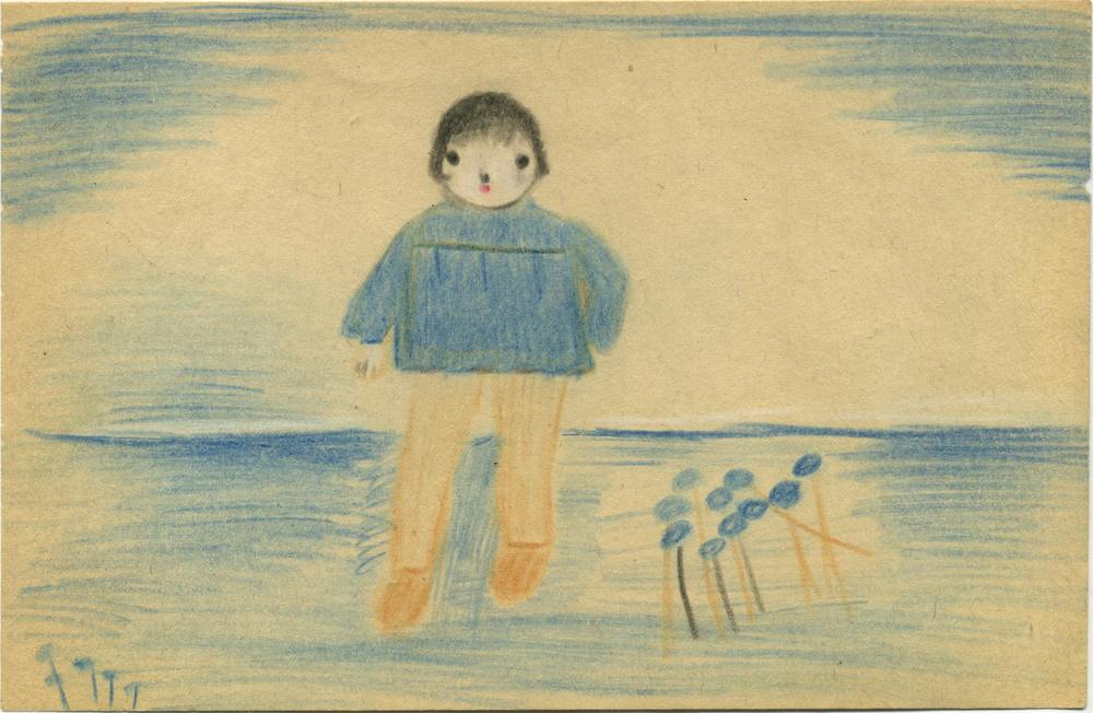 Bertha Wuilleumier    Untitled  , 1953| Color pencil on paper 5.3 x 8.2 inches 13.5 x 20.8 cm BWu 7