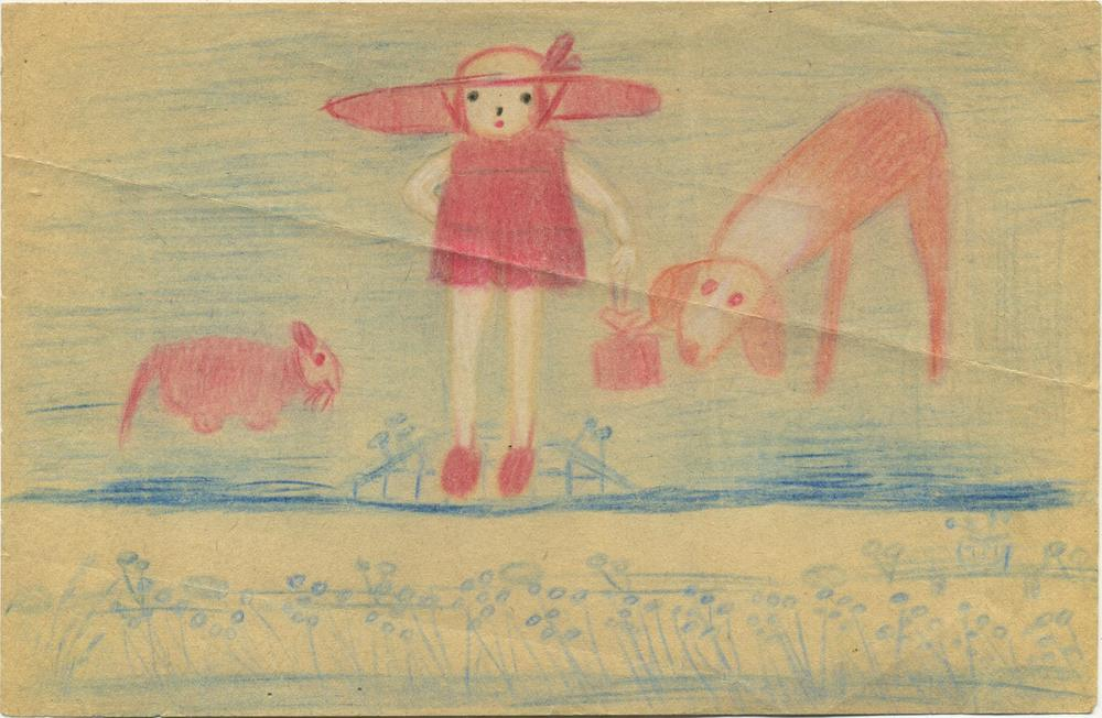 Bertha Wuilleumier    Untitled  , 1953 Color pencil on paper 5.3 x 8.2 inches 13.5 x 20.8 cm BWu 8
