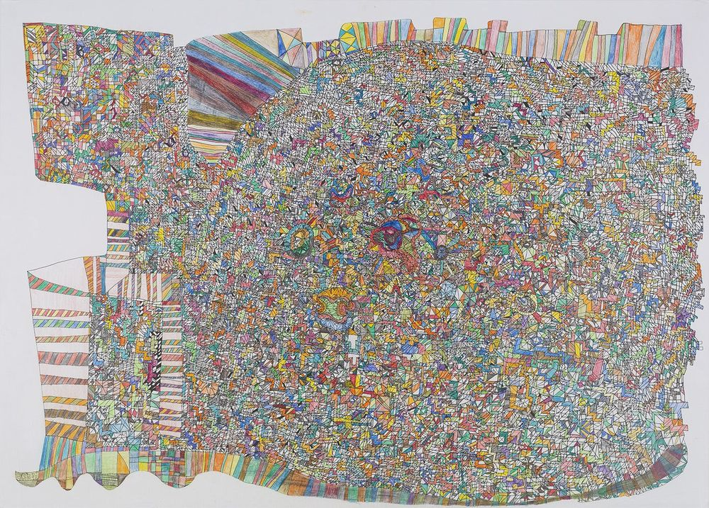 Paul Kai Schröder,    Untitled  , 2014, Crayon and ink on paper, 19.5 x 27.5 inches, 49.5 x 69.9 cm, PKS 1
