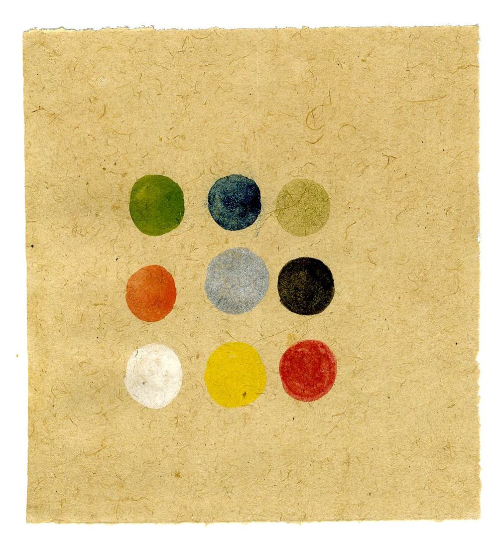 Tantra, Untitled, ca. 1980-2014, Natural pigments (hand-ground colors: including minerals, mother of pearl, coral, tree resin, vegetable pastes), 5.31 x 4.09 inches, 13.5 x 10.4 cm, Tant 38