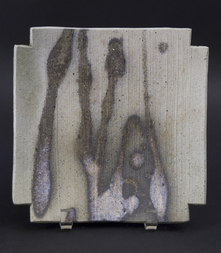 Ken Mihara    Small Sekki Plate  , 2010 Izumo ware 7.5 x 7.5 x 1.25 inches 19.1 x 19.1 x 3.2 cm KMi 13