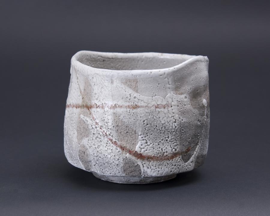 Akira Satake    Chawan  , 2010 Hikidashi, Shino Glaze 4.25 x 5 x 5 inches 10.8 x 12.7 x 12.7 cm ASA 11