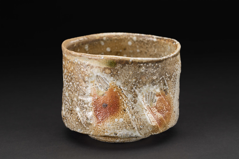 Akira Satake    Chawan  , 2010 Woodfired Ceramic, Shino Glaze 4 x 5 x 5 inches 10.2 x 12.7 x 12.7 cm ASA 9