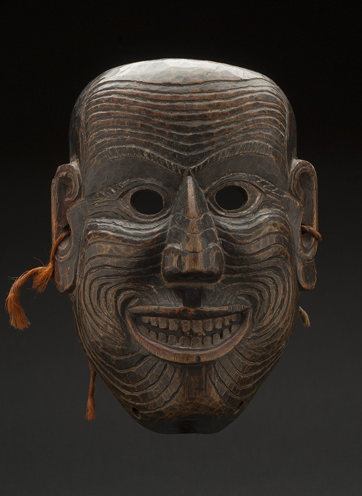 Masks    Arunachal Pradesh - India/Bhutan - Monpa - Mask  , 19th C. Stained wood 9 x 7 x 4.5 inches 22.9 x 17.8 x 11.4 cm M 50s