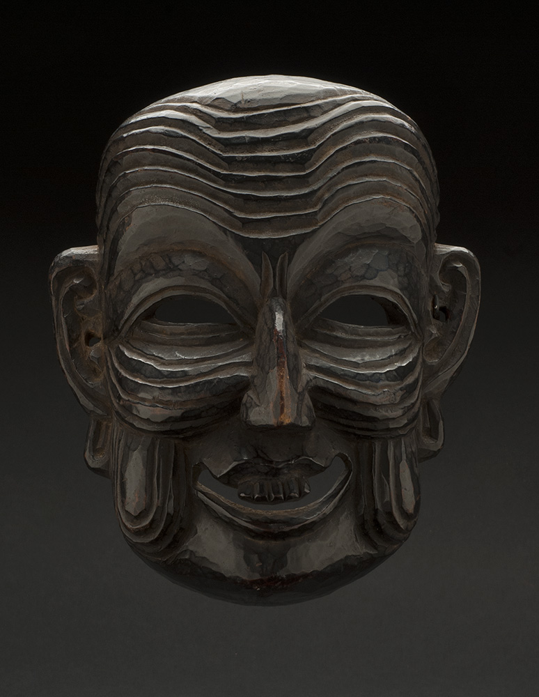 Masks    Arunachal Pradesh - India/Bhutan - Monpa-Apa Mask  , 19th C. Stained wood 10 x 8 x 5 inches 25.4 x 20.3 x 12.7 cm M 69s