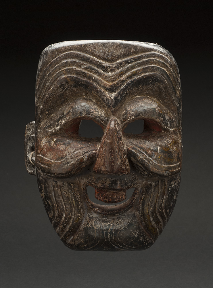 Masks    Arunachal Pradesh - India/Bhutan - Monpa-Apa Mask  , Early 20th C. Wood 8 x 6.25 x 4.25 inches 20.3 x 15.9 x 10.8 cm M 82s