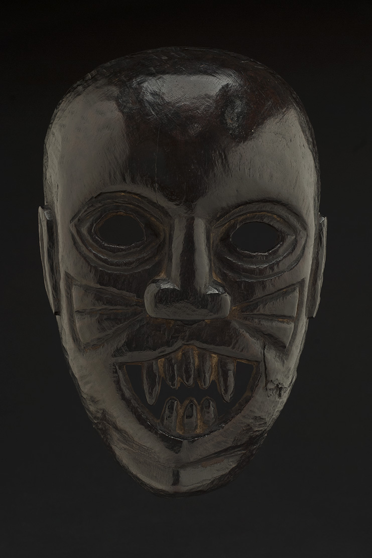 Masks    Nepal - Transformation Mask  , Early 20th C. Wood 10 x 7 x 3.5 inches 25.4 x 17.8 x 8.9 cm M 108s