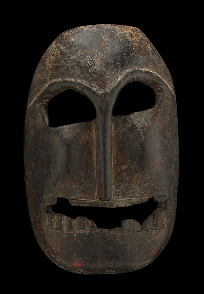 Masks    Himachal Pradesh, India  , Early 20th C. Wood 11 x 7 x 4.5 inches 27.9 x 17.8 x 11.4 cm M 156