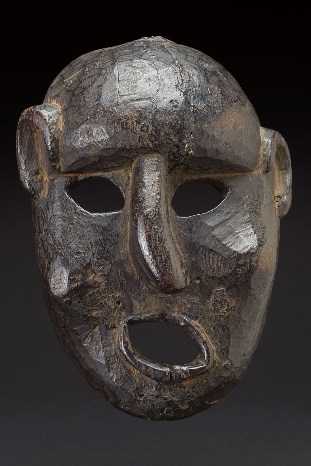 Masks    Nepal  , circa 19th C. Wood 10 x 7.5 x 3 inches 25.4 x 19.1 x 7.6 cm M 194s