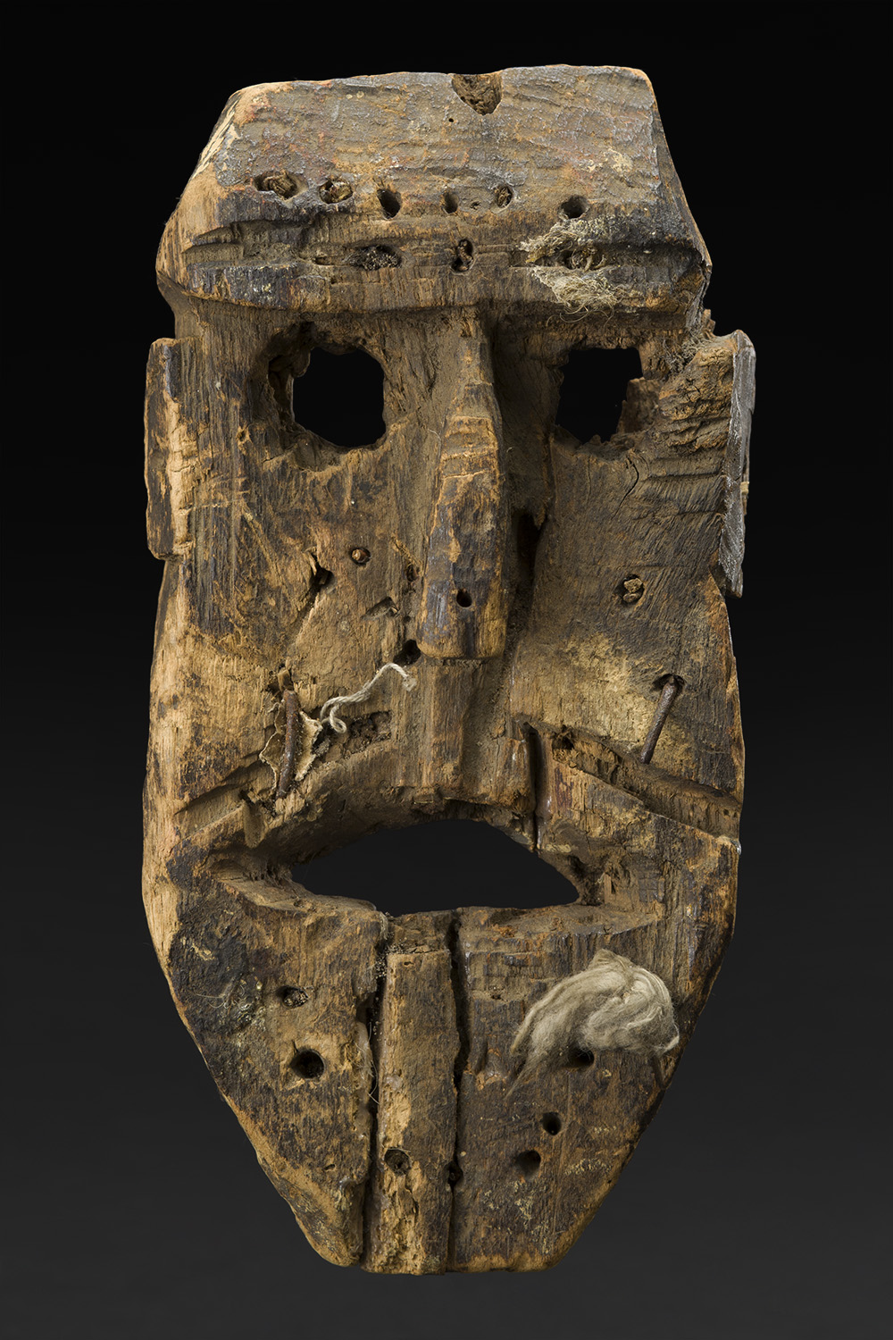 Masks    Nepal  , Late 19th or early 20th C. Wood 10 x 5.5 x 3 inches 25.4 x 14 x 7.6 cm M 222s