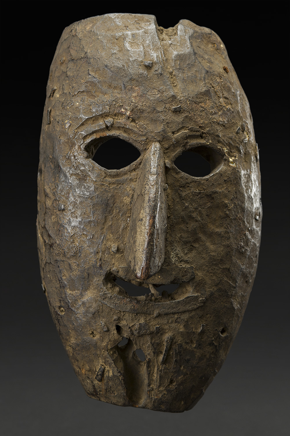 Masks    Nepal  , Early 20th C. Wood 10.5 x 6 x 4 inches 26.7 x 15.2 x 10.2 cm M 225s