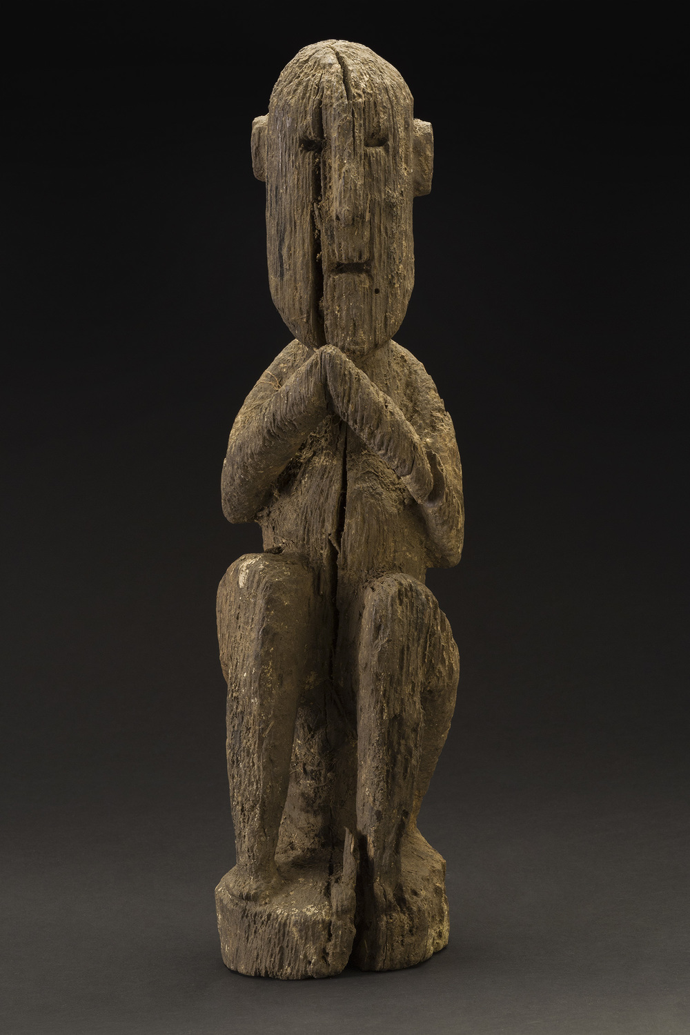 Nepal    West Nepal Votive Figure  , mid. 20th c. Wood 17.5 x 5 x 4 inches 44.5 x 12.7 x 10.2 cm Nep 53