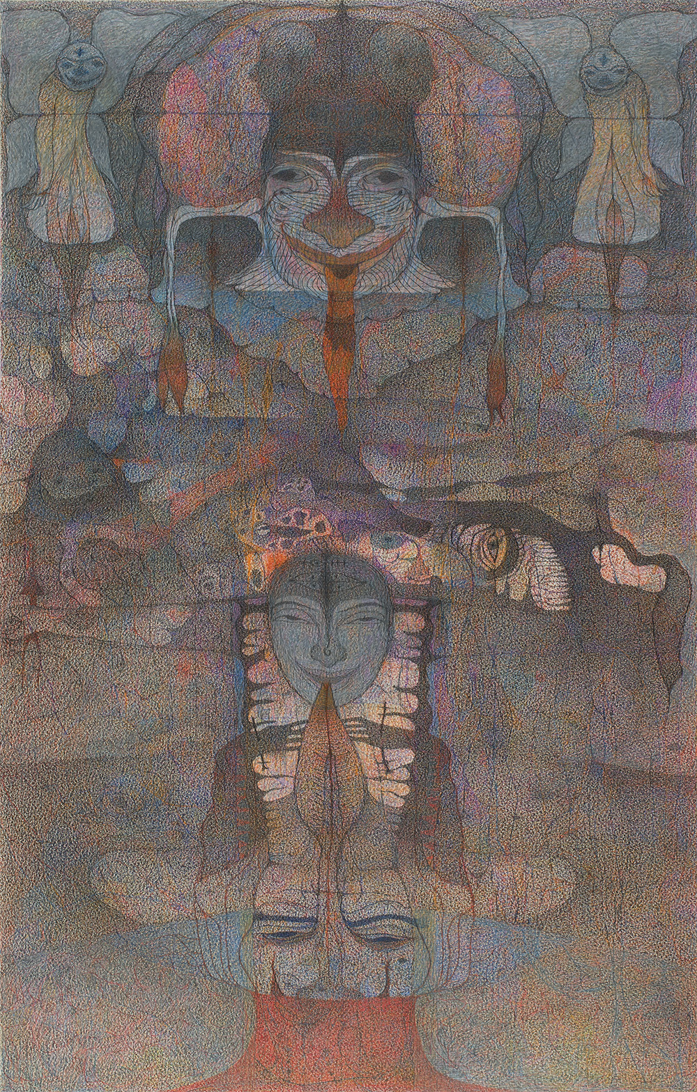 M'onma, Untitled, 2004, Color pencil on paper, 27.56 x 17.6 inches, 70 x 44.7 cm, IMo 63