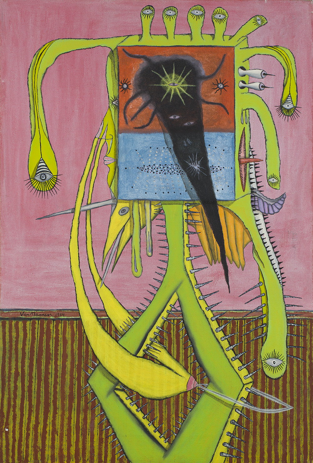 Gregory Van Maanen    Woman  , 5/1/1984 Acrylic on canvas 24 x 16 inches 61 x 40.6 cm GVM 98