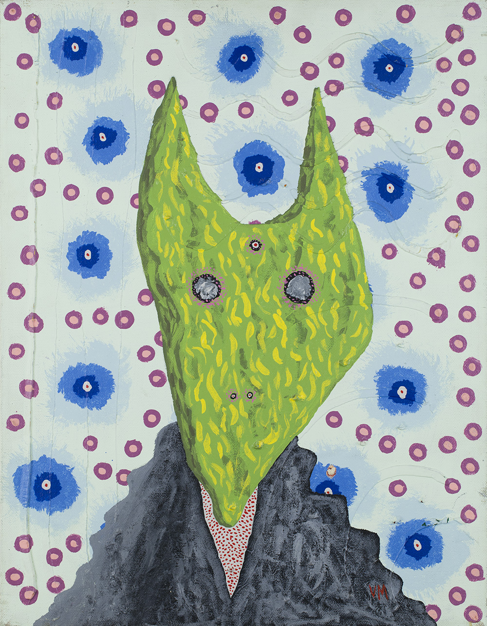 Gregory Van Maanen    Wolfgang (the Lizard) Before The War  , 5/1/1986 Acrylic on canvas 18 x 14 inches 45.7 x 35.6 cm GVM 116
