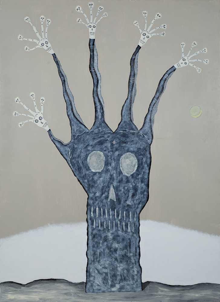 Gregory Van Maanen    Spirit Hand  , 1993 Oil, enamel, acrylic on wood 66 x 48 inches 167.6 x 121.9 cm GVM 754