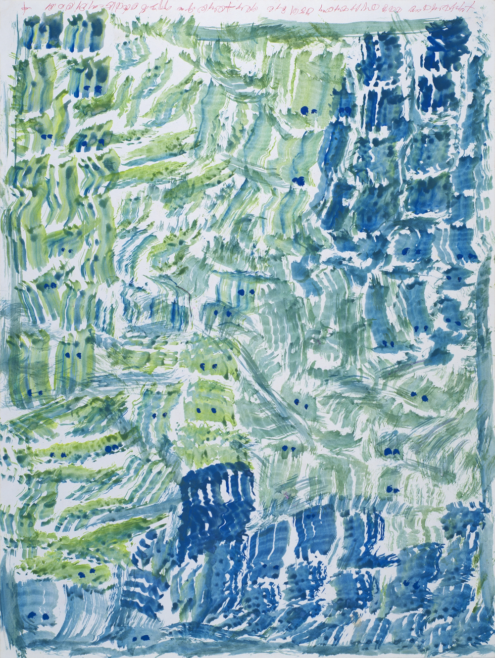 J.B. Murray    Untitled  , c. 1978-1988 Tempera and ink on paper 24 x 18 inches 61 x 45.7 cm JBM 439