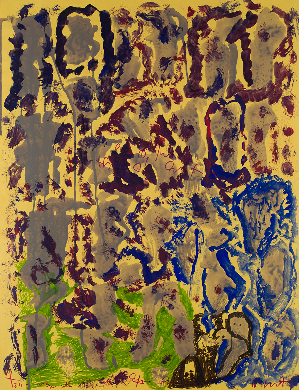 J.B. Murray    Untitled  , c. 1978-1988 Tempera and ink on paper 25 x 19 inches 63.5 x 48.3 cm JBM 471