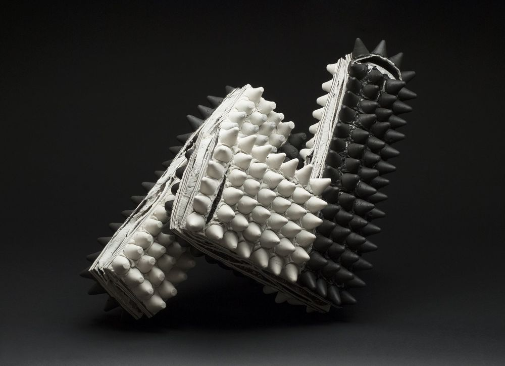 Rafa Perez    Untitled  , 2012 Porcelain, fired at 1150 degrees 23.62 x 14.17 x 11.02 inches 60 x 36 x 28 cm RPe 26