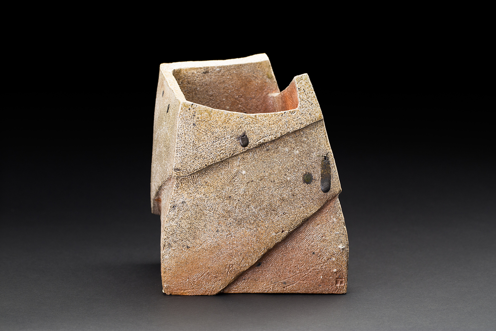 Tim Rowan    Untitled  , 2016 Woodfired ceramic 12 x 9 x 9 inches 30.5 x 22.9 x 22.9 cm TR 163