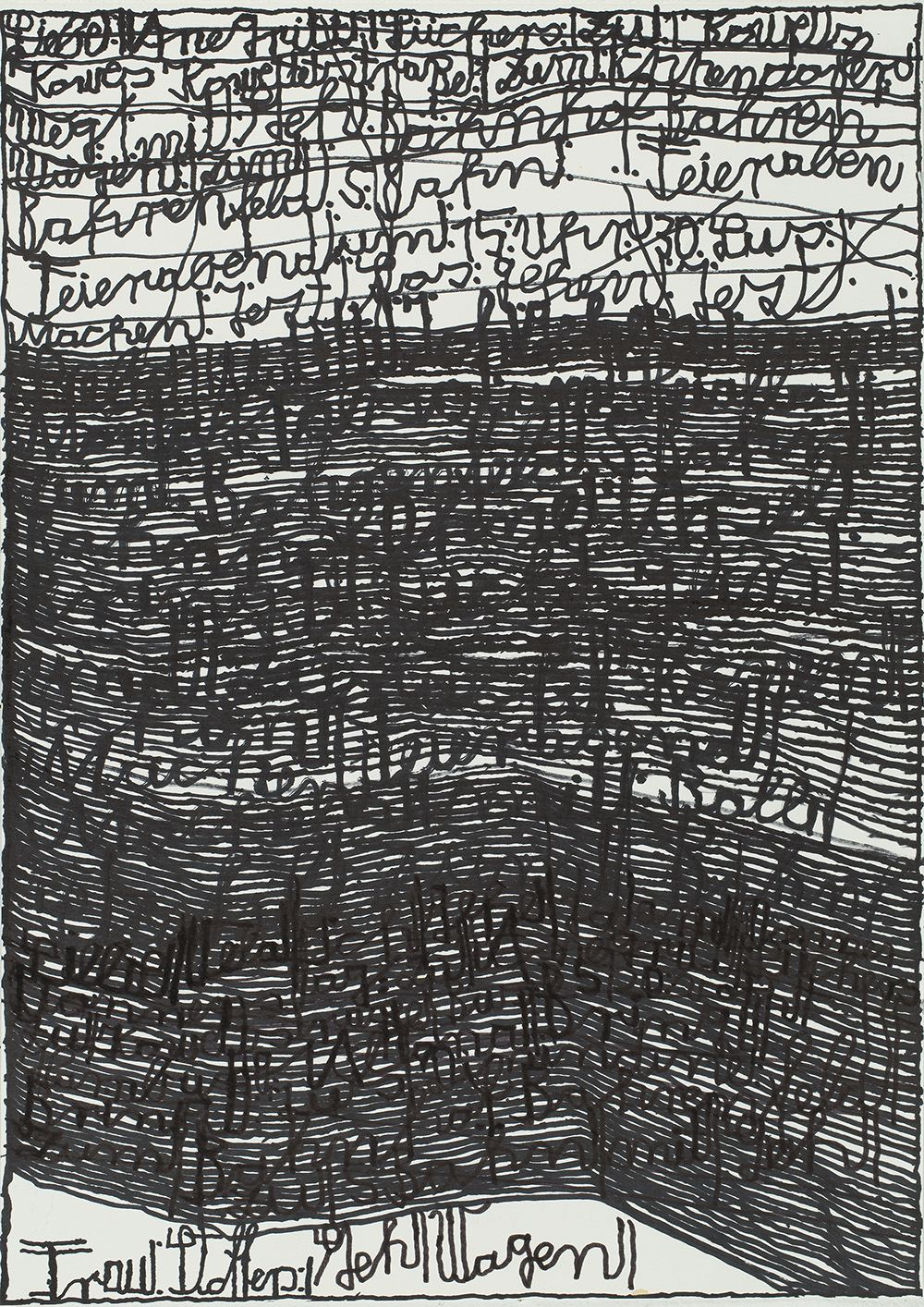Harald Stoffers Brief 336, 2014 Waterproof felt tip pen on paper 16.5 x 11.75 inches 41.9 x 29.8 cm HaS 18