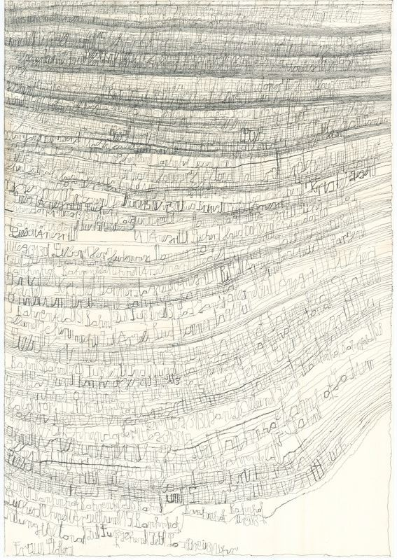 Harald Stoffers Brief 180, 2011 Waterproof felt tip pen on cardboard 39.375 x 27.5 inches 100 x 69.9 cm HaS 24