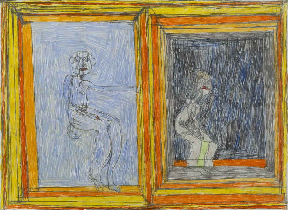 Josef Hofer Untitled, 2005 Graphite, colored pencil on paper 17.32 x 23.62 inches 44 x 60 cm JHo 18